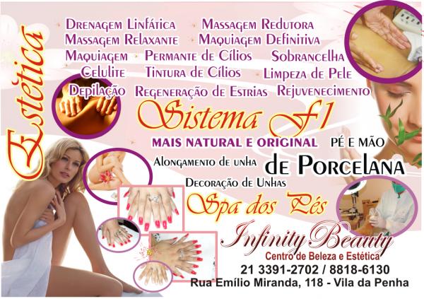 Panfleto S 243 Frente Infinity Beauty Loja Detalhe